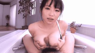 吉永あかね スク水美少女と一緒にお風呂 爆乳パイズリの破壊力!!