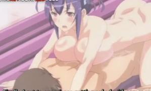 エロアニメ 爆乳の姉に強制的にラブホに連れ込まれ強制エッチされられるオレ