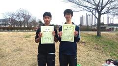 高校生ダブルス男子準優勝中澤・平川組