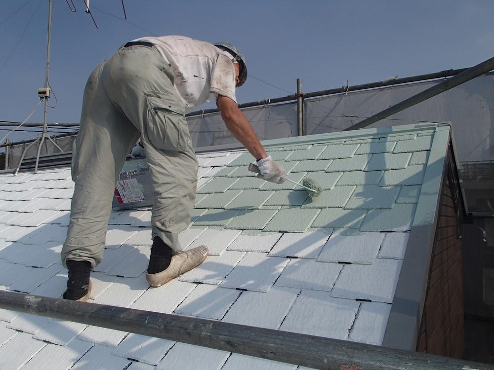 猛暑に効果あり 屋根の遮熱塗装