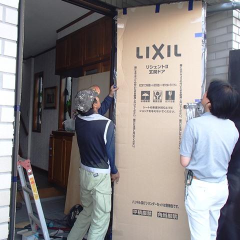 LIXIL リシェントⅡで玄関ドアのリフォームでデザイン・機能性アップ!!