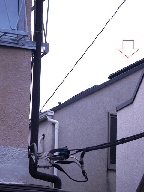 トップライトのガラス破損の調査