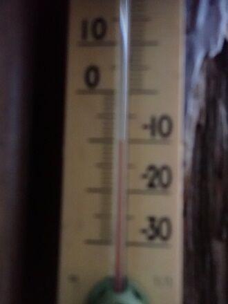 104 山頂の気温は-10℃ 6:46戻ります
