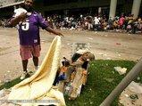 避難所で息絶えた被災者