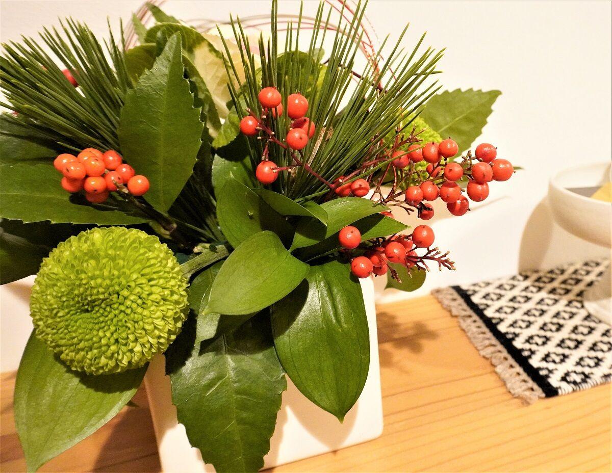 お正月お花6