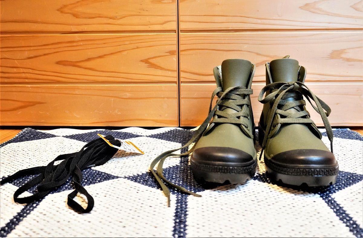 ワークマン靴紐交換6