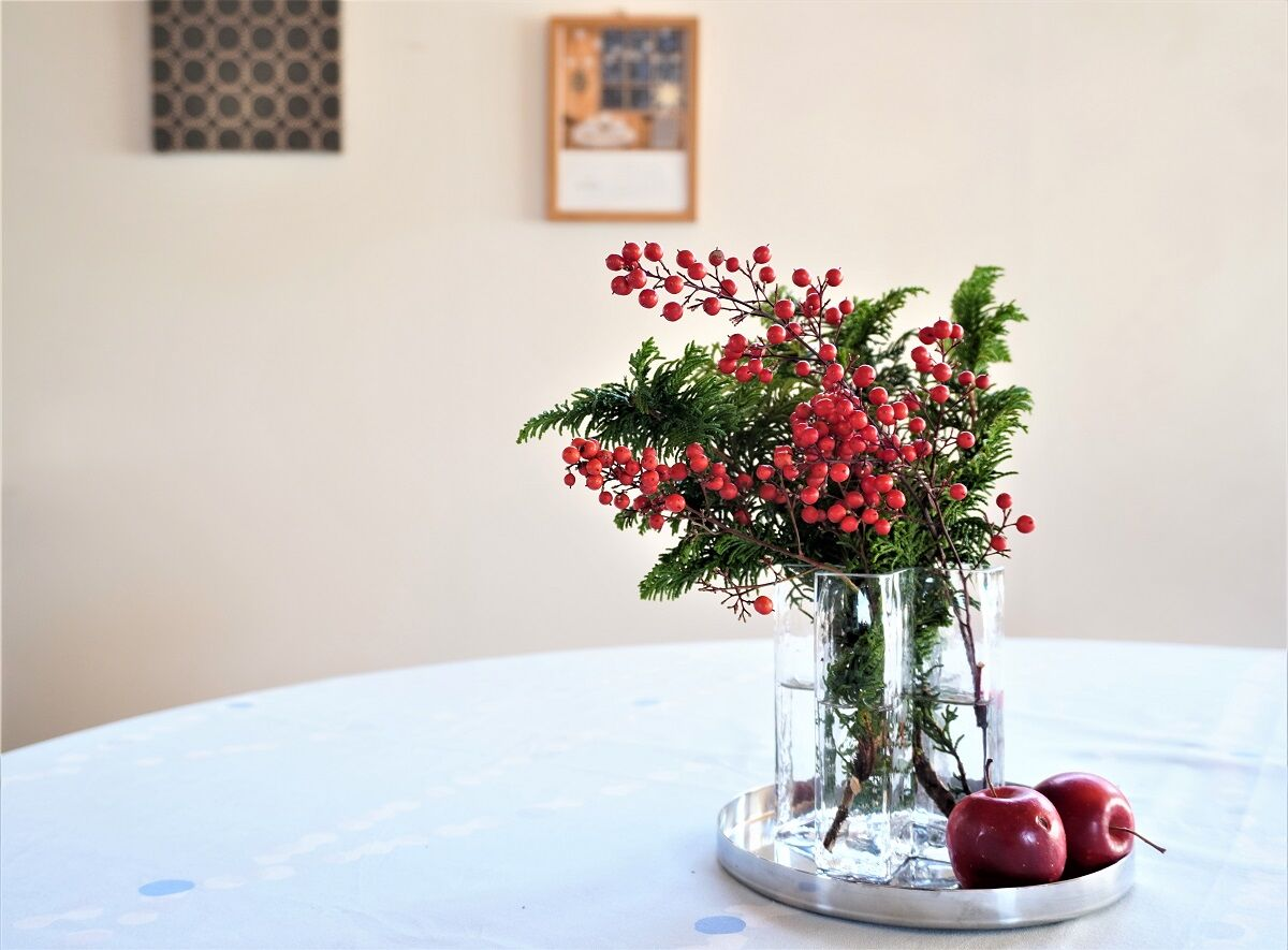 お正月お花12