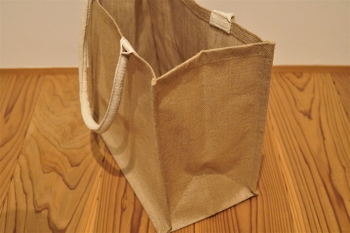 ジュートマイバッグのマチ部分