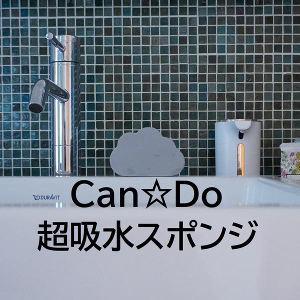 【キャンドゥ】雲形が激カワ!水滴ぐんぐん吸収♪いい仕事してくれる~♪