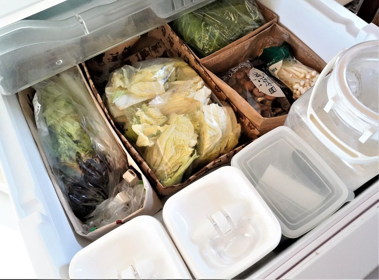 室 冷蔵庫 整理 野菜