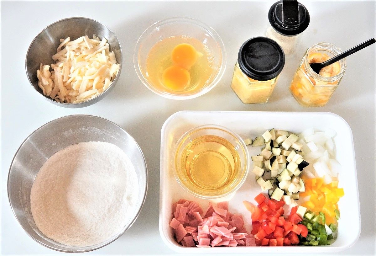 塩レモンケークサレ材料