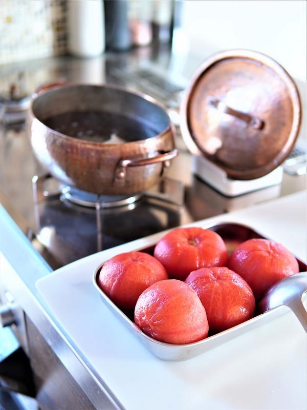 トマト大量消費メニュー♪簡単夏の常備菜「出汁トマト」主役の手抜き晩御飯~笑