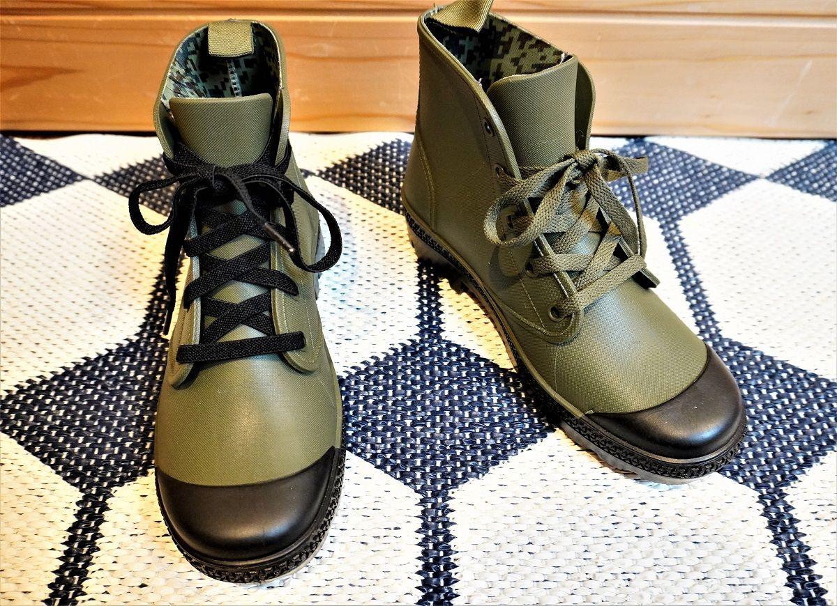 ワークマン靴紐交換4
