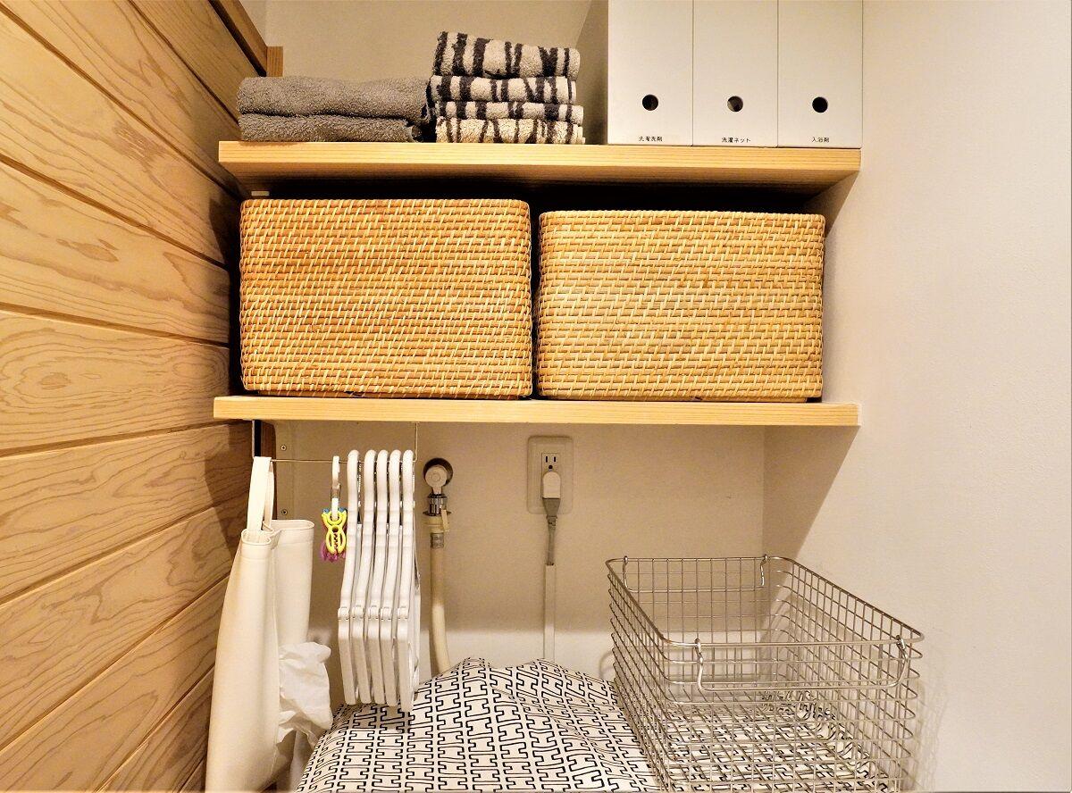 セリアグッズで洗濯スペース改善10