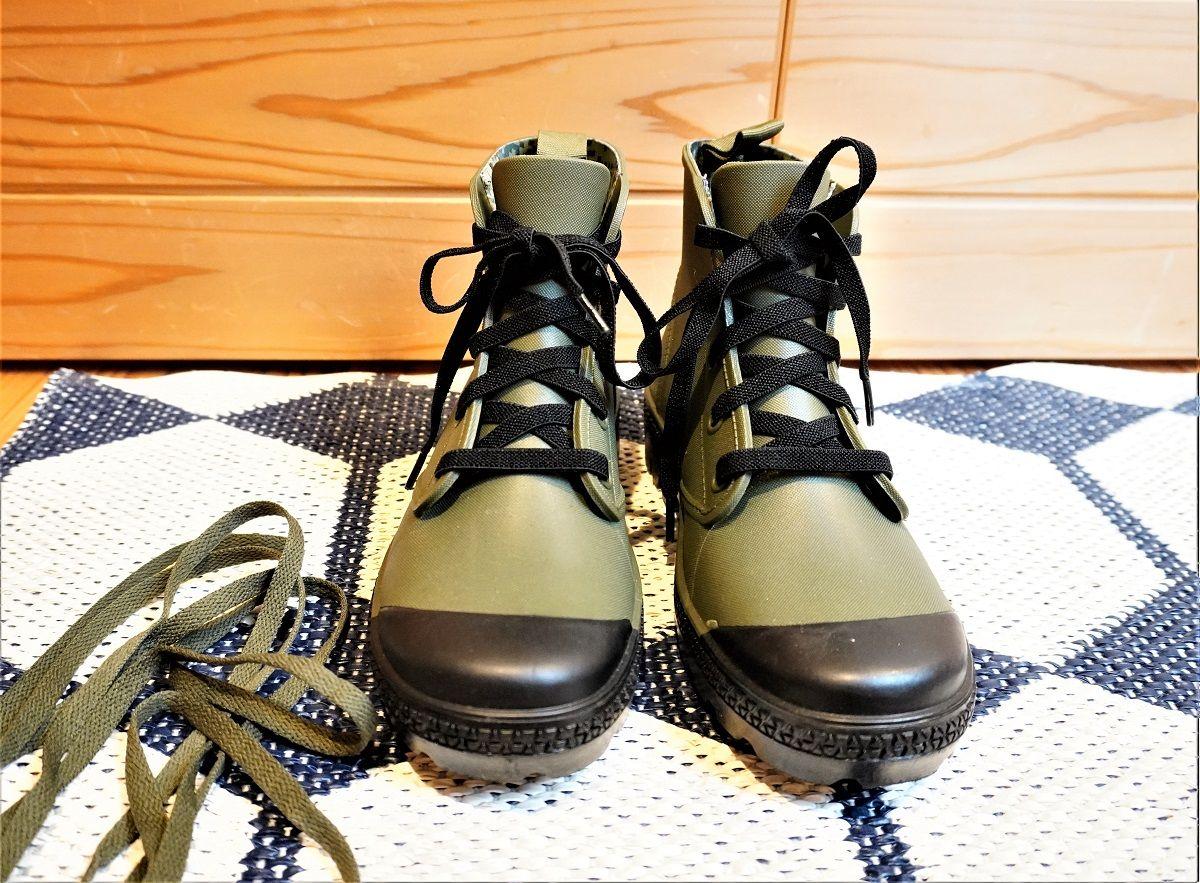 ワークマン靴紐交換5