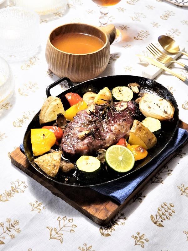 槇塚鉄工所のスキレットが届いた&イベリコベジョータのオーブングリルの晩御飯