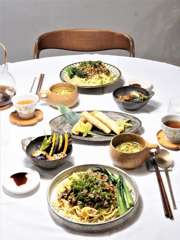発酵万能調味料「ひしお」でちょいアレンジ♪常備菜で汁なし担々麺の晩御飯♪