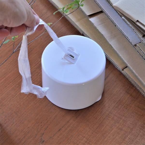 セリア「カッター付きヒモ収納ケース」が便利♪廃品回収がスイスイ時短ではかどる~♪