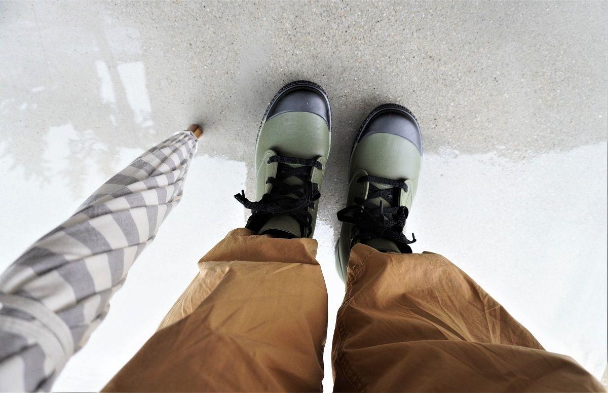 ワークマン靴紐交換2