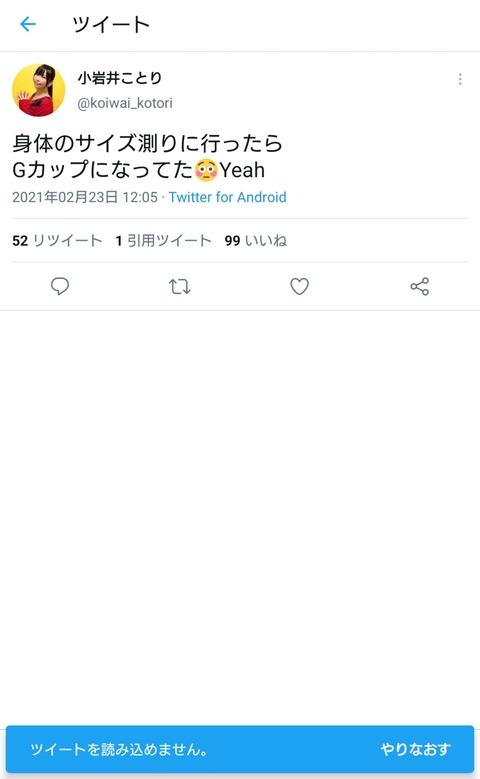 【悲報】美人声優・小岩井ことりさん、Gカップを告白するもツイ消ししてしまう