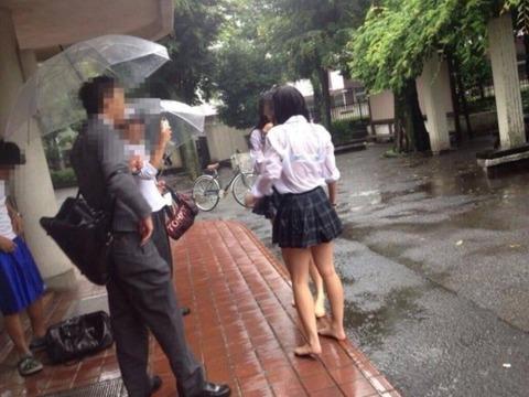 【画像】雨の日の濡れ透けJKえっち過ぎ