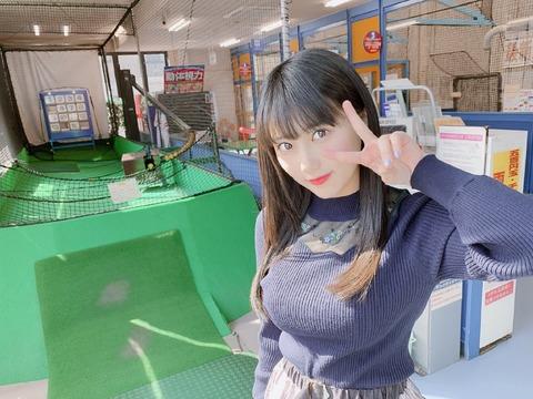 【画像】 爆乳女子高生・HKT48田中美久さんがバッティングセンターに行った結果wwwwwwwwww