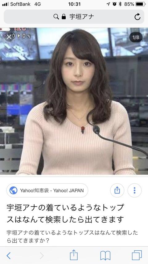 TBSの宇垣アナってこんな可愛いんか?最近の女子アナAV出てほしいわ