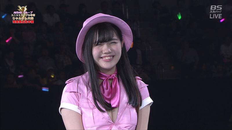 【HKT48】「スカーフ邪魔!」Fカップ田中優香、AKBじゃんけん大会で大注目!