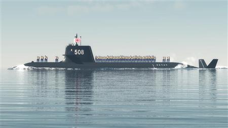 【海上自衛隊】敵の魚雷を妨害する防衛能力を備えた潜水艦「せきりゅう」が完成 呉基地に入港