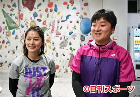 【女子アナ】NHK杉浦友紀さん(33)「尻の筋肉つらい…」 スポーツクライミングに挑戦(画像あり)