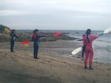 漕ぎ方練習中