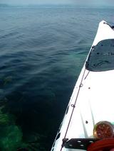 沖ノ島の透き通った海