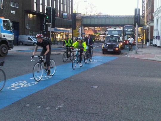 SouthwarkBridge roadghostcyclelane