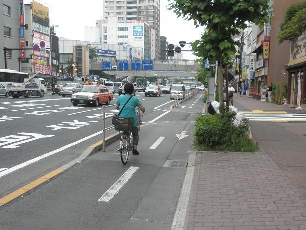 東京国道事務所:国道14号「亀戸自転車道」の整備形態 : サイクル ...