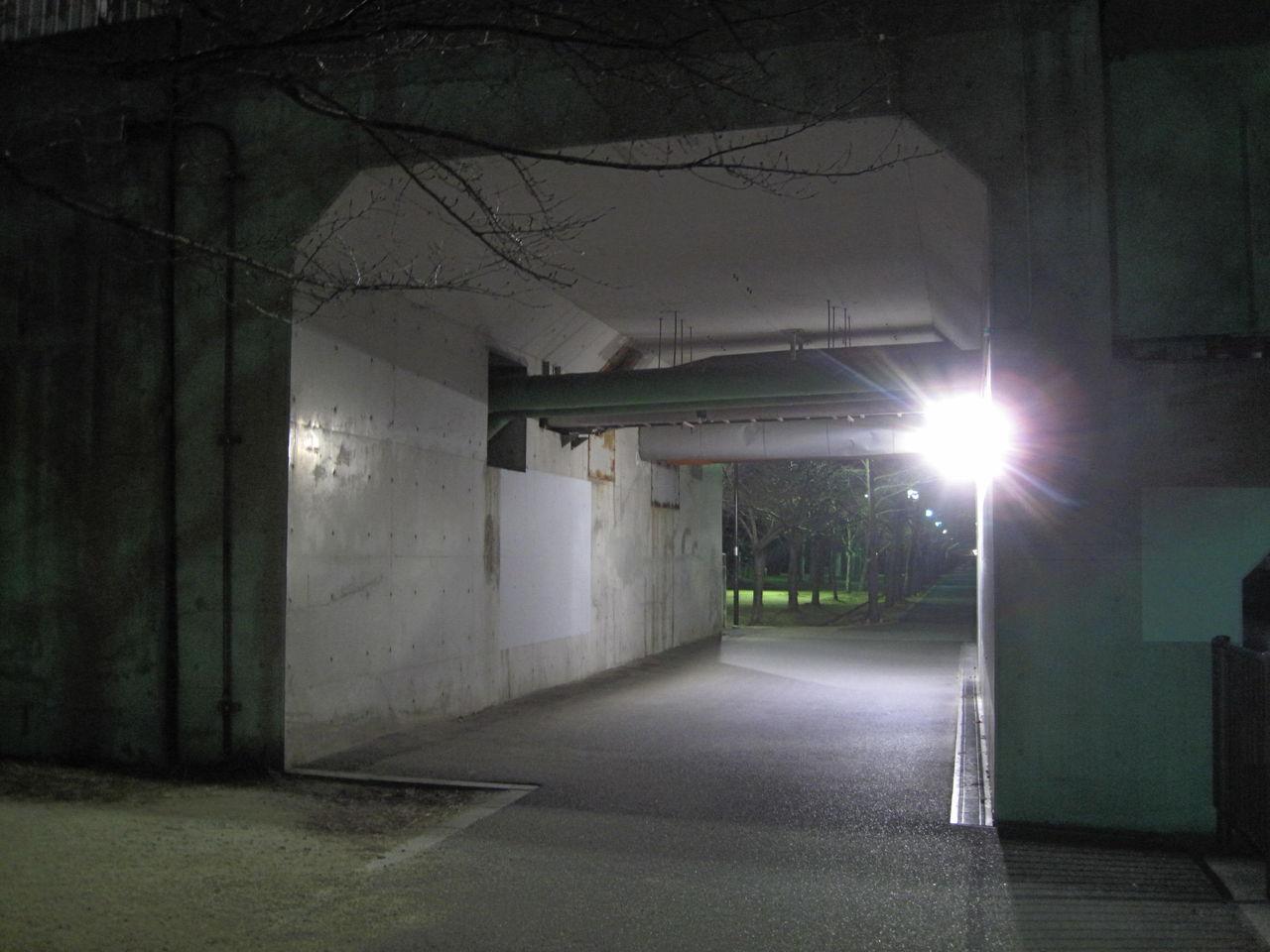 宮川大橋ガード下 街灯設置後