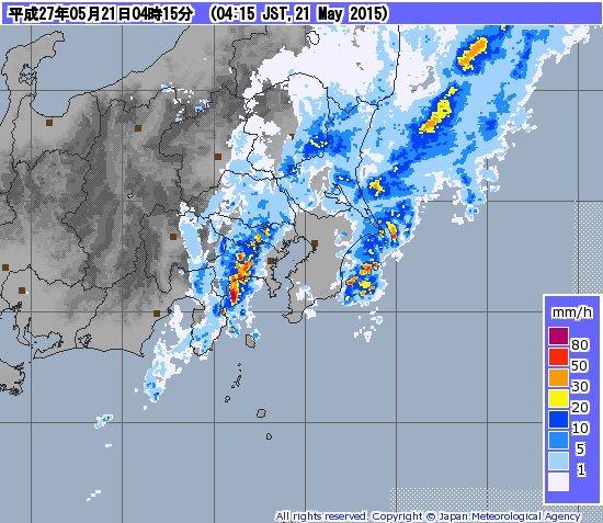 臨時雷雨情報(2015年5月21日) : ...