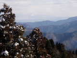 経ケ岳稜線から琵琶湖と伊吹山