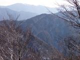 三国岳山頂から経ケ岳と比良の武奈ケ岳