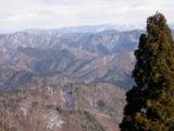 P941西尾根分岐付近から三重岳方面