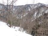 大曲のショートカットルートからの江丹国境稜線
