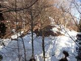 地藏峠の北側(南向き斜面)は地肌が広く顕れている