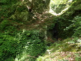中ノツボ谷 涸れた谷の滝を登る