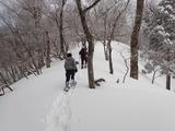 若丹国境稜線に向かって登る