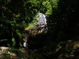 中ノツボ谷 二条の滝 水量少なく一条