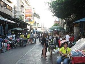 中国人街の市場