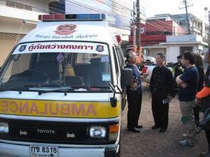 数年前に寄贈された救急車