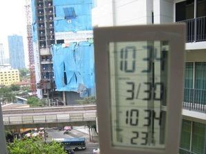2100「外気温23度」