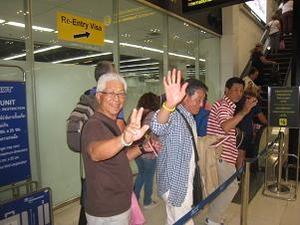 空港のイミグレでお見送り