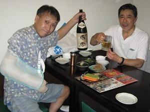 庵寺にてN氏と晩餐