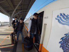 31新幹線に乗車